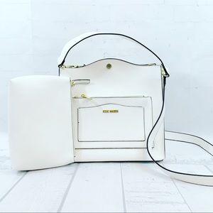 Steve Madden BLupita White Satchel Shoulder Bag